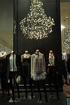 """CLUB MONACO,New York,""""Linda,I don't mean finding 15 different ways to swing from a chandelier...."""", pinned by Ton van der Veer"""