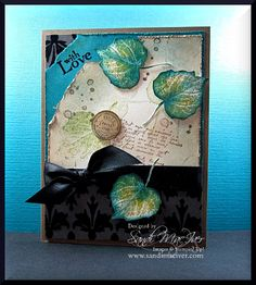 French Foliage Indigo and Lime by SandiMac - Cards and Paper Crafts at Splitcoaststampers