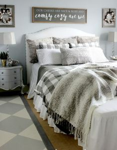 Farmhouse Master Bedroom Decorating Ideas (14