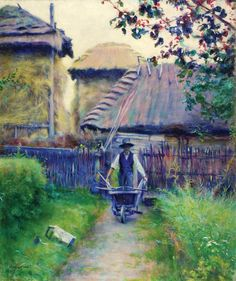 Wladyslaw Podkowinski - Gardener 1894 French Impressionist Painters, Types Of Art, Famous Artists, Contemporary Paintings, Art And Architecture, Painting Inspiration, Beautiful Gardens, Art Decor, Fine Art