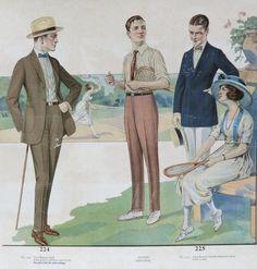 Kittyinva: 1921 Men's summer fashion plate. Summer Fashion Tumblr, Vintage Outfits, Vintage Fashion, Fashion 1920s, Victorian Fashion, 1920s Men, Mens Fashion Suits, Men's Fashion, Art Deco
