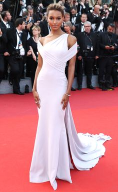 JASMINE TOOKES in a Georges Chakra at The Beguiled premiere Cannes 2017