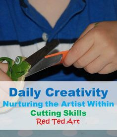 ALWAYS a critical need for this at the beginning of the kindergarten year ...the simple skill of CUTTING. Nurture the artists within.