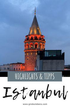 Wir zeigen euch, was man in 24 Stunden in Istanbul erleben kann: Bosporus | Großer Basar | Hagia Sophia | Blaue Moschee | Cisterna Basilica | Tünel Istanbul und die nostalgische Straßenbahn | Galataturm (Galata Kulesi). Inklusive Hoteltipp und Tipps für eine tolle Aussicht auf Istanbul. Mehr zu den Sehenswürdigkeiten, Highlights und Tipps für 24 Stunden in Istanbul auf www.gindeslebens.com #Istanbul #SehenswürdigkeitenIstanbul #HighlightsIstanbul #TippsIstanbul #24StundenIstanbul Hagia Sophia, Istanbul, Reisen In Europa, San Francisco Ferry, Hotels, Colorado, Building, Jerusalem Israel, Travel