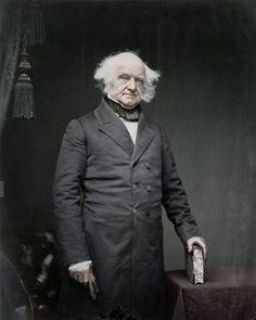 Former President Martin Van Buren, around 1850.  Van Buren was distantly related to the Roosevelts.