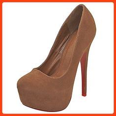 ea84ce313d28 Womens Brown High Heel Platform Pumps Size 9 ( Partner Link)