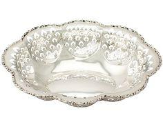 Sterling Silver Bon Bon Dish - Vintage Elizabeth II  SKU: A4447 Price  GBP £595.00  http://www.acsilver.co.uk/shop/pc/Sterling-Silver-Bon-Bon-Dish-Vintage-Elizabeth-II-66p8185.htm