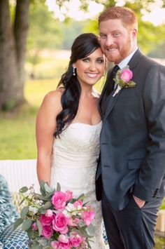 stunning couples, gorgeous bride, pink roses, bridal bouquet, mens fashion, wedding fashion, bridal gown, wedding hair, gorgeous wedding ::Jessica + Adam's private, outdoor wedding portrait photography session:: with Nikki