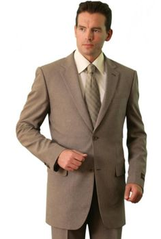 Polyester/Wool Touch Men's Classic affordable suit online sale Tan | MensITALY  Price: US $109