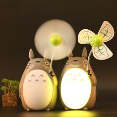 "Totoro night light USB charging fan Use code: ""cherry blossom"" get 10% everytime you shop at (www.sanrense.com)"