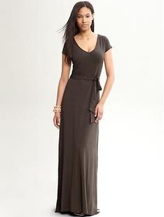 The gorgeous dress I purchased, most compliments on an outfit in my life! - Heritage jersey patio dress | Banana Republic