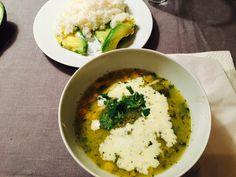 Colombian chicken soup or Ajiaco santafereño