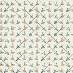 Arrows coming from all east and west...Goes perfectly with Bed SoftWest. Two tones of soft turquoise on a sand color background.         © Copyright Julie Carpentier - You can sell products you made with this fabric (or wallpaper or gift wrap) but if you credit the design do it to Julie's fabrics YOU CANNOT COPY MY ORIGINAL WORK AND/OR PRINT IT.