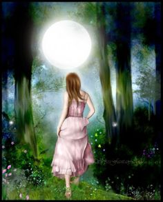 """""""Take a walk under the Full Moon tonight, feel her loving energy hold you tight, make a wish upon that star, know that all your dreams are not very far.""""  - Jasmeine Moonsong  **original artwork by: Skyes Fantasy http://skyesfantasy.deviantart.com/**  http://wiccanmoonsong.blogspot.com/2014/05/daily-message-may-14-2014.html"""