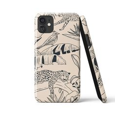 JUNGLE JOUY Cream Phone Case - iPhone XS Max / Snap Case - Gloss