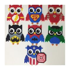Superhero owls hama perler beads by missmusicnonstop