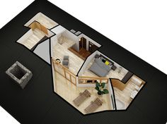 TOP FLOOR 3D PLAN of