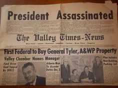 11-22-1963 Valley Times News
