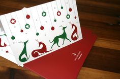 """Sighthound Christmas Cards which read """"Merry Christmas!"""""""