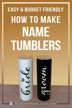 How to apply up-and-down decals to DIY tumbler cups so they are perfectly straight and centered. Vinyl Tumblers, Personalized Tumblers, Glitter Tumblers, Name Decals For Cups, Diy Tumblr, Tumbler Designs, Tumbler Cups, Diy Design, Budget