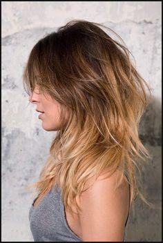 Neu Schulterlange Haare Mit Stufen Stylen - Frisure Mode 2018 | Einfache Frisuren