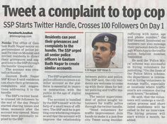 #Tweet a complaint to top #Cop !!  www.brainguru.in