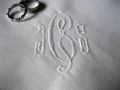 Tips on monogramming your handkerchiefs and linens.