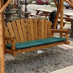 Spruce Green Cushion for Glider or Porch Swing