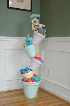 Tipsy Flower Pots for Easter