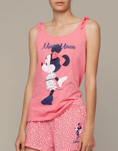 Knotted Minnie Mouse top - T-shirts - United Kingdom Lazy Day Outfits, Preppy Outfits, Disney Outfits, Cool Outfits, Summer Outfits, Cute Pjs, Cute Pajamas, Pajamas Women, Comfy Pajamas
