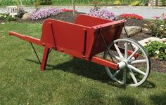 Amish Old Fashioned Wheelbarrow - Medium Premium Customize this outdoor furniture for your home. This rustic wheelbarrow makes a great planter and accent piece.