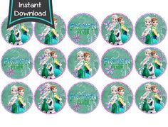 Frozen Fever Cupcake toppers / Labels - printable - DIY - digital file (FCC)