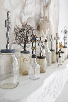 ...things attached to the tops of mason jars - cool!