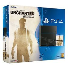 PlayStation 4 UNCHARTED: 500 GB Jet Black - MISSING GAME (SHIPS FREE)