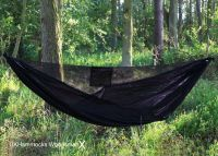 UK Woodsman X Hammock. Ultra light and packs really small. Also very comfy.