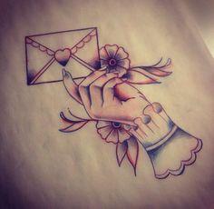 #flash #tattooflash #tattooart #sketch #draw #paint #traditional #tattoo #tattoos #traditionaltattoos #oldschool #hand #mail