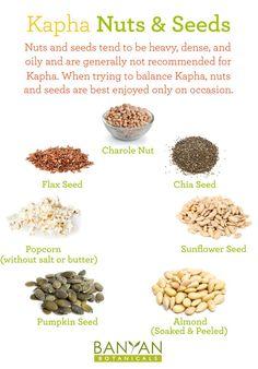 Kapha Nuts and Seeds – Ayurveda