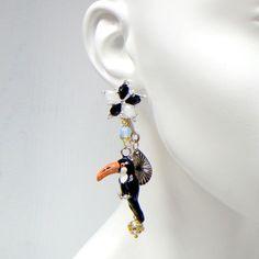 Deluxe Large Billed Birds Earrings One Pair @Noveltylane.com