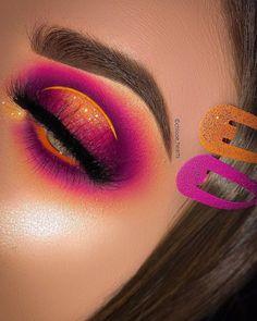 on EYES - Venus XL Palette limecrimemakeup Orange base plouise_makeup_academy Beautiful Sunset Palette bellanoiacollection Planet Eye Makeup Cut Crease, Creative Makeup Looks, Dramatic Eye Makeup, Eye Makeup Steps, Eye Makeup Art, Colorful Eye Makeup, Natural Eye Makeup, Smokey Eye Makeup, Makeup Inspo