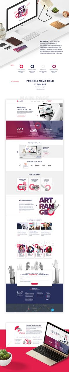 Redesign website Artrange on Behance