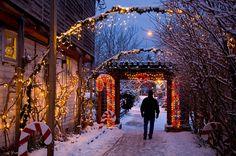 Christmas in Langley, Whidbey Island, Wa