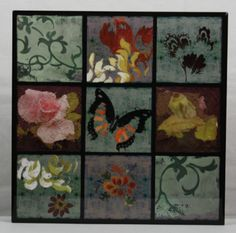 Beautiful wall Decor Black Laquer Montage Buttefly, Flowers ready to Hang $17.05  free ship #justinsestore ... Love this!