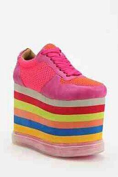 Double rainbow of ugly shoe