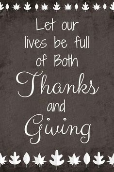 Let Our Lives Be Full of Both Thanks and Giving, free printable for Thanksgiving! - Julie is Coco and Cocoa