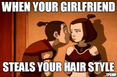 "My friend (whose not an avatar fan so don't freak out ) said ""yeah I had ponytail like sokka"" and all I could think was ""ITS NOT A PONYTAIL!!"" That was an awesome episode, but then again all of them are amazing!"