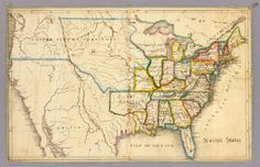 united states map - 1823