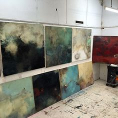 "167 Likes, 6 Comments - Sam Lock - Artist (@sam_lock_art) on Instagram: ""Studio shot of new larger works...."""