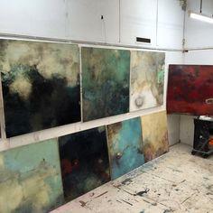 Studio shot of new larger works....