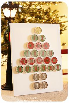 Love this tin advent tree! totally making it next year!