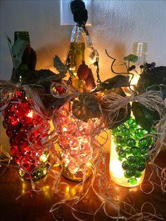 Wine bottle grape night light